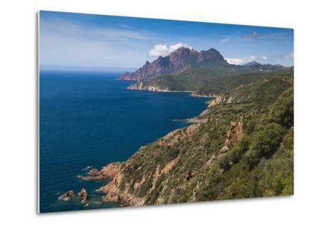 Elevated View of Golfe De Girolata Gulf, Corsica, France-Walter Bibikow-Metal Print