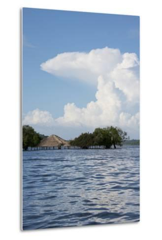 Beach at Height of the Wet Season, Alter Do Chao, Amazon, Brazil-Cindy Miller Hopkins-Metal Print