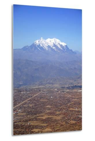 One of World's Highest City, Below the Illimani Mt, El Alto, Bolivia-Anthony Asael-Metal Print