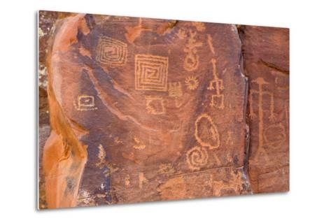 Petroglyphs, V Bar V Heritage Site, Arizona, USA-Jamie & Judy Wild-Metal Print