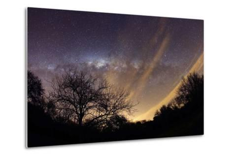 The Milky Way Behind a Rural Landscape, Mercedes, Argentina--Metal Print