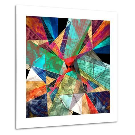 Abstract Geometric Pattern-Tanor-Metal Print