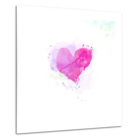 Painted Watercolor Heart-lozas-Metal Print