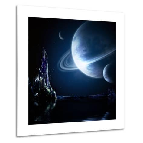 Landscape In Fantasy Planet-frenta-Metal Print