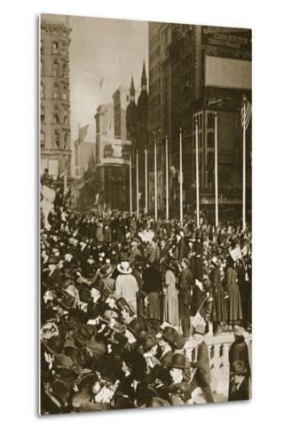 When Peace Came, 1918--Metal Print