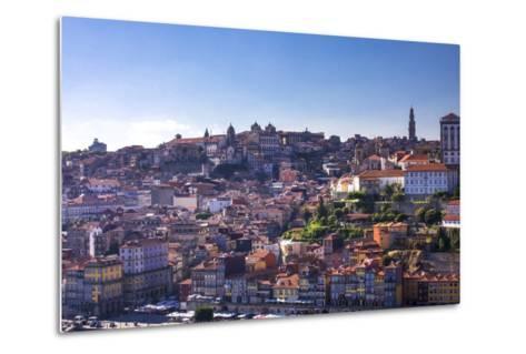 Oporto/Porto Rio Duero District of Colorful Buildings-Terry Eggers-Metal Print