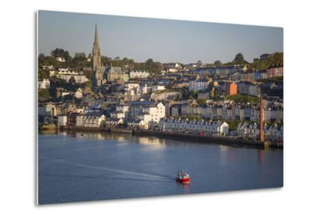 Fishing Boat Headed Out to Sea at Dawn, Cobh, County Cork, Ireland-Brian Jannsen-Metal Print