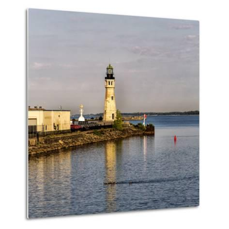 The Buffalo Main Lighthouse on the Buffalo River New York State-Joe Restuccia-Metal Print