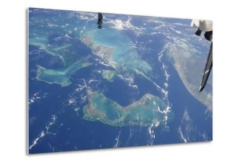 View from Space Featuring the Bahama Islands and Part of Peninsular Florida--Metal Print