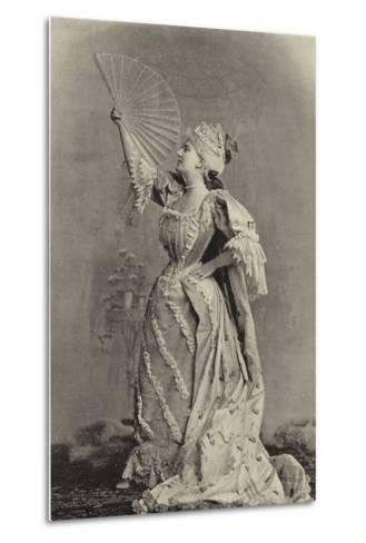 Miss Fortescue, as Lady Teazle--Metal Print