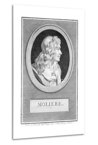 Profile Portrait of Moliere--Metal Print