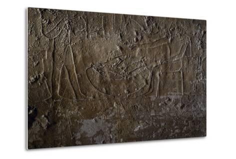 Fish Seller, Relief, Processional Ramp of Pyramid of Unas, Saqqara--Metal Print