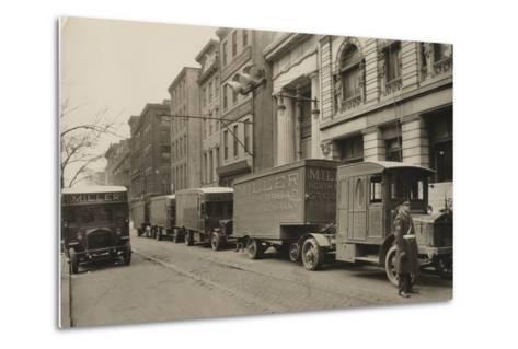 Pierce Arrow Trucks, Miller North Broad Storage Company, Philadelphia Pa, C.1926--Metal Print