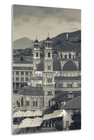 Albania, Korca, the Orthodox Cathedral, Boulevard Republika-Walter Bibikow-Metal Print