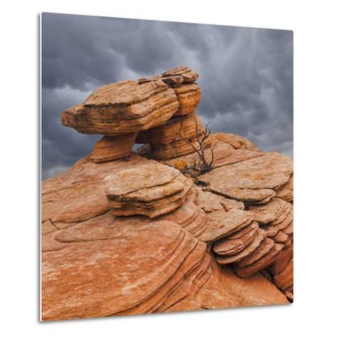USA, Utah, Dixie National Forest. Sandstone Formation in Yant Flats-Jaynes Gallery-Metal Print