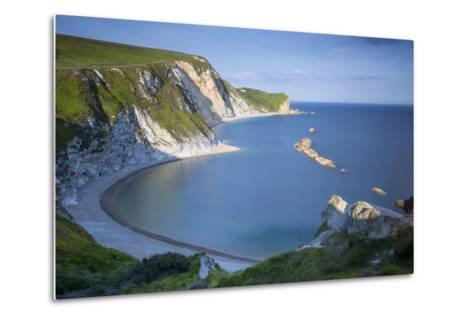 Overlooking Man O War Bay Along the Jurassic Coast, Dorset, England-Brian Jannsen-Metal Print