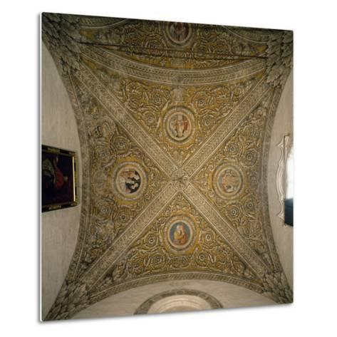 Vault of Sacristy and Nave of Chapel of Cathedral of Mantua--Metal Print