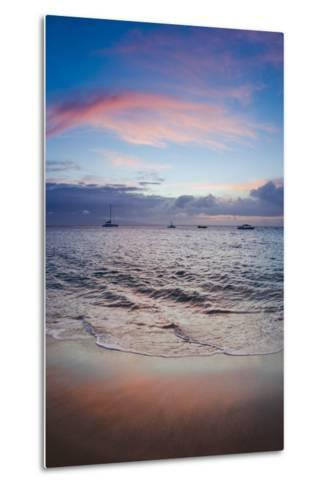 Sunset from Kaanapali Beach, Maui, Hawaii, Usa-Roddy Scheer-Metal Print