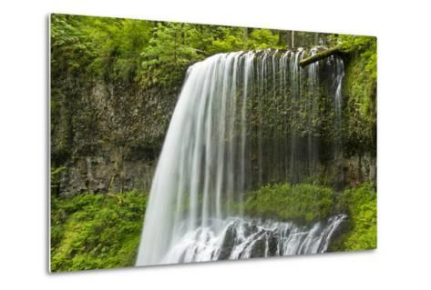 Middle North Falls, Silver Falls State Park, Oregon, Usa-Michel Hersen-Metal Print