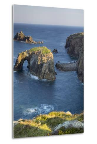 Morning over the Rocky Coastline Near Lands End, Cornwall, England-Brian Jannsen-Metal Print