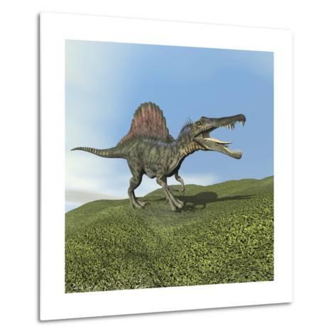 Spinosaurus Dinosaur--Metal Print
