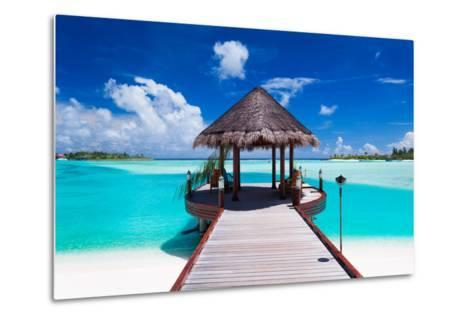 Jetty with Amazing Ocean View on Tropical Island-Martin Valigursky-Metal Print