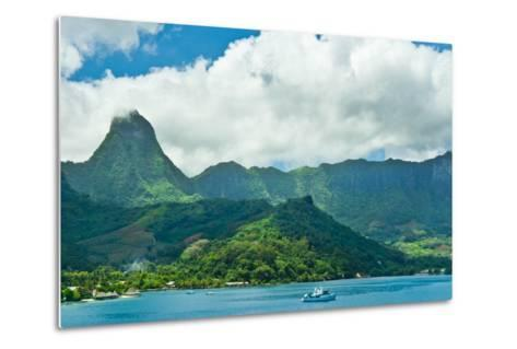 Paradise View of Moorea Islands, Cook's Bay, French Polynesia-mffoto-Metal Print