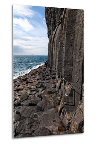 Basalt Columns by the Sea on the Isle of Staffa, Scotland-Spumador-Metal Print