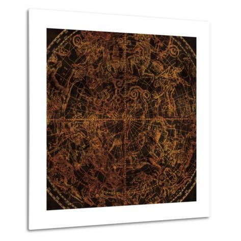 Northern Celestial Sphere Vintage-Hugo Wild-Metal Print