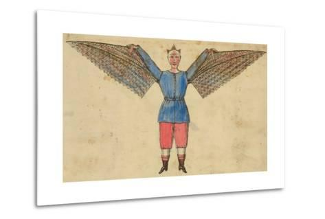 Man with Wings Attached to Tunic--Metal Print