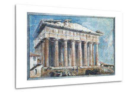 The Removal of the Sculptures from the Pediments of the Parthenon-Sir William Gell-Metal Print