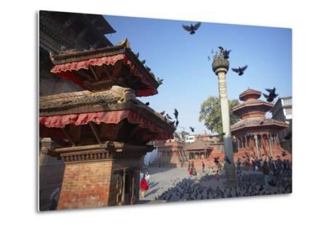 Durbar Square, UNESCO World Heritage Site, Kathmandu, Nepal, Asia-Ian Trower-Metal Print