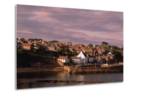 Harbor on Fife Coast-Vittoriano Rastelli-Metal Print