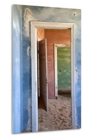 Interior of Building Slowly Being Consumed by the Sands of the Namib Desert-Lee Frost-Metal Print