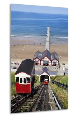 Cliff Tramway and the Pier at Saltburn by the Sea-Mark Sunderland-Metal Print