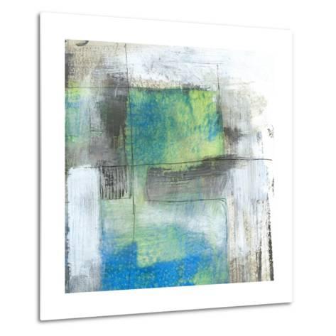 White on Blue II-Jennifer Goldberger-Metal Print