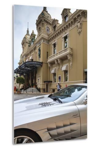 Exotic Sports Car Outside Casino De Monte-Carlo, Monaco, Europe-Amanda Hall-Metal Print