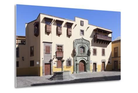 Casa De Colon, Vegueta Old Town, Las Palmas, Gran Canaria, Canary Islands, Spain, Europe-Markus Lange-Metal Print
