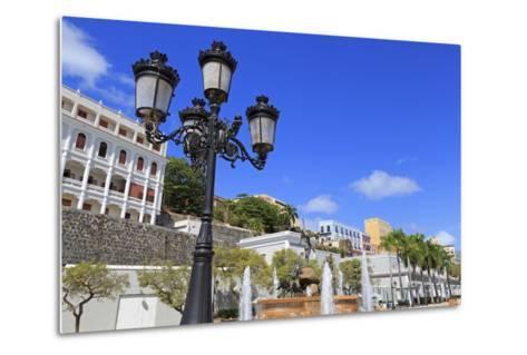 La Princesa Fountain in Old San Juan, Puerto Rico, Caribbean-Richard Cummins-Metal Print