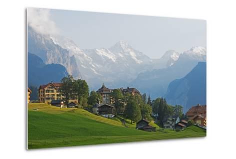 Wengen, Bernese Oberland, Swiss Alps, Switzerland, Europe-Christian Kober-Metal Print