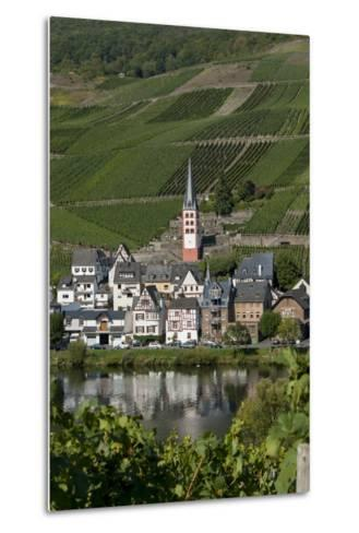 Zell Church on River Mosel, Zell, Rhineland-Palatinate, Germany, Europe-Charles Bowman-Metal Print