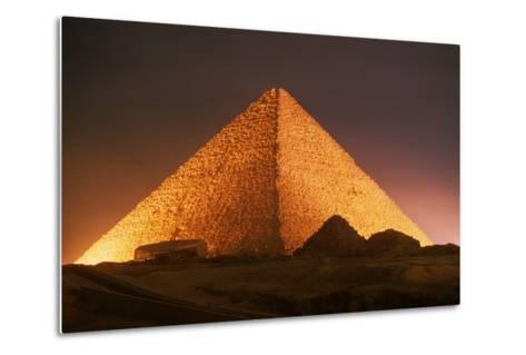 Pyramid of Cheops at Night-Roger Ressmeyer-Metal Print