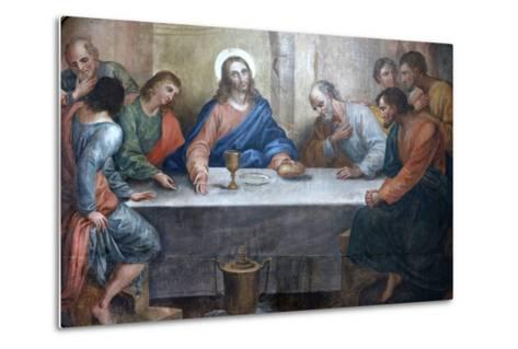Last Supper Painting in Our Lady of Bonfim Church, Salvador, Bahia, Brazil, South America-Godong-Metal Print