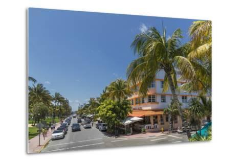 Ocean Drive, Miami Beach, Florida, United States of America, North America-Angelo Cavalli-Metal Print