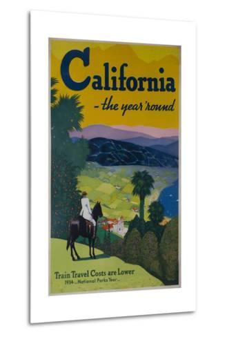 California the Year Round, Travel Poster--Metal Print