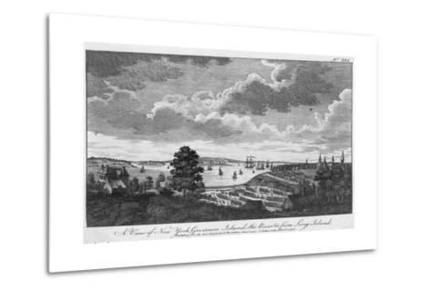 A View of New York, Governors Island, the River from Long Island-A. Hamilton, Jr.-Metal Print
