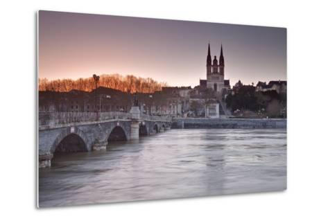 The Maine River Flowing Through the City of Angers-Julian Elliott-Metal Print