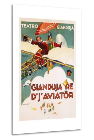 Gianduja Re D'J'Aviator Poster-Carlo Nicco-Metal Print