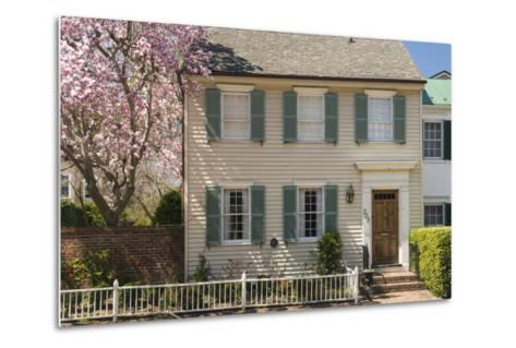 Traditional Timber House in Alexandria Old Town, Virginia, United States of America, North America-John Woodworth-Metal Print