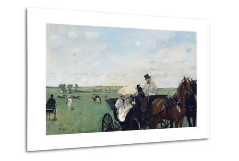 At the Races in the Countryside-Edgar Degas-Metal Print